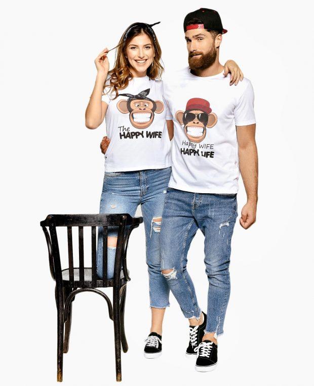 Women's Printed T-Shirt HAPPY LIFE