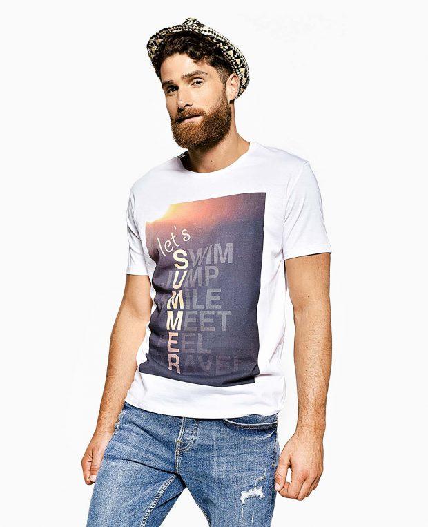 Men's Jersey Tshirt In White SUMMER