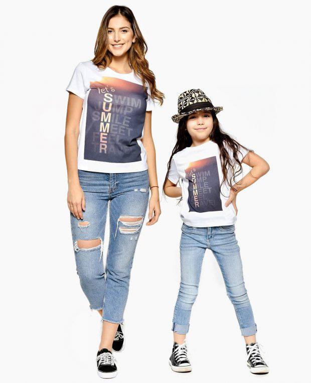 Kids Jersey T-Shirt In White SUMMER