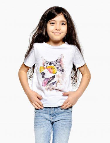Kids Printed T-Shirt HUSKY