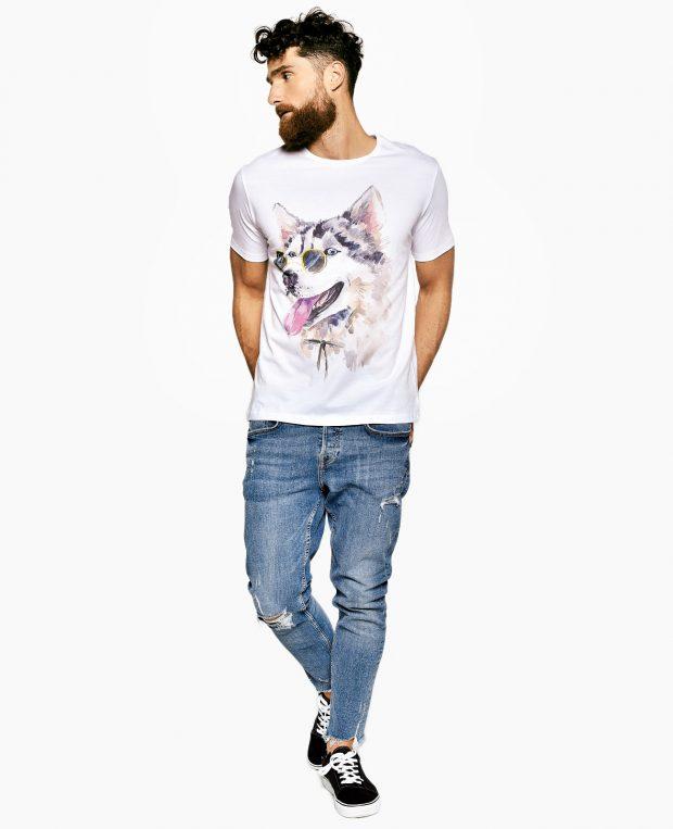 Men's Printed T-Shirt HUSKY