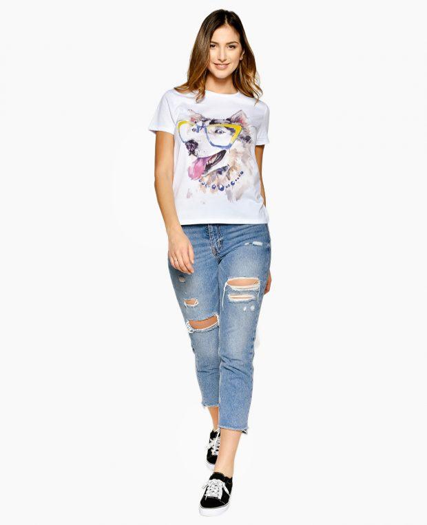 Women's Printed T-Shirt HUSKY