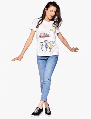 Women's Crew Neck T-Shirt HAPPY FAMILY