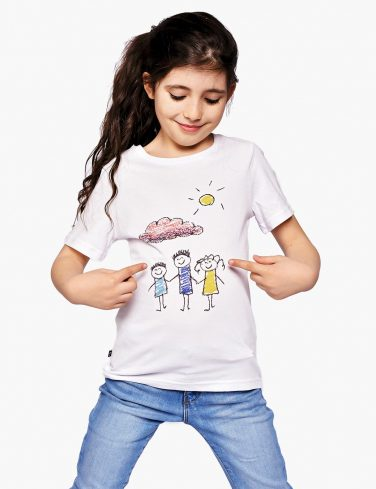 Kids Crew Neck T-Shirt HAPPY FAMILY