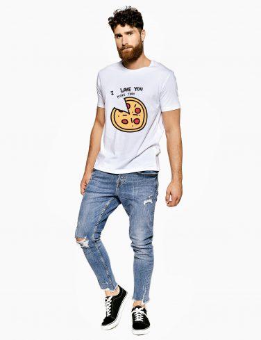 Men's Crew Neck T-Shirt PIZZA