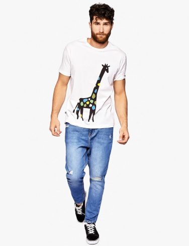 Men's Crew Neck Tee GIRAFFE
