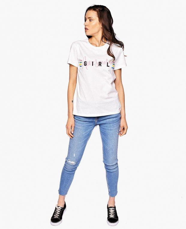 Women's Slogan T-Shirt AWESOME GIRL