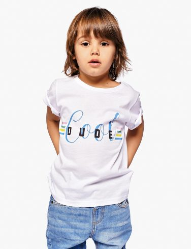 Boys Slogan T-Shirt COOL DUDE