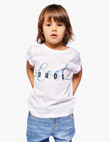Boys Slogan T-Shirt COOL DUDE