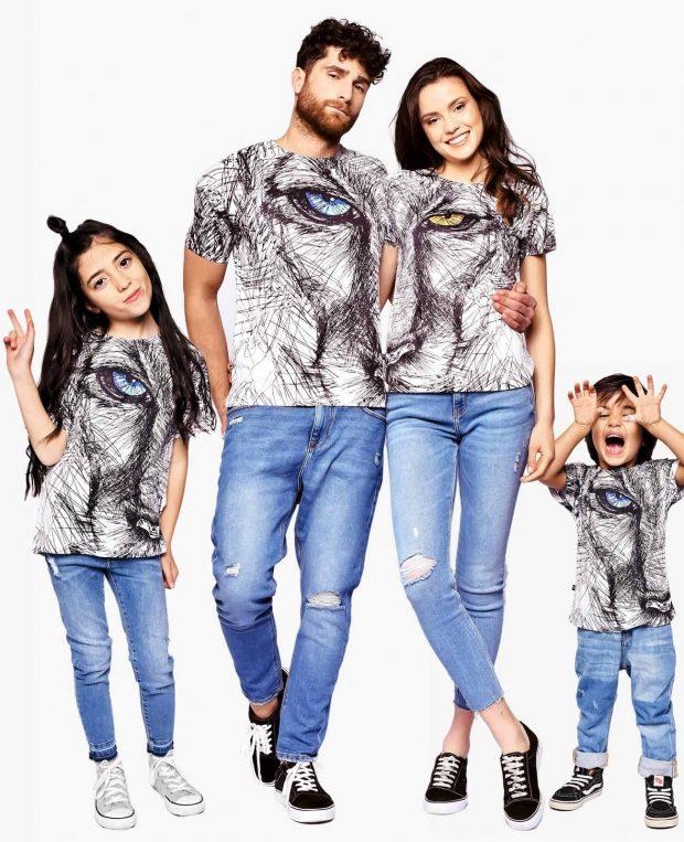 Women's Printed T-Shirt SKETCHY LION