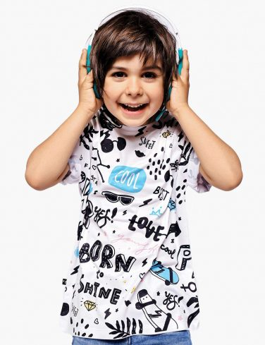 Kids Printed Tee BORN TO ROCK