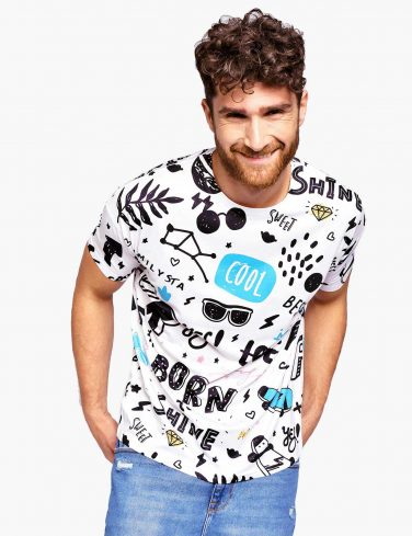 Men's Printed Tee BORN TO ROCK