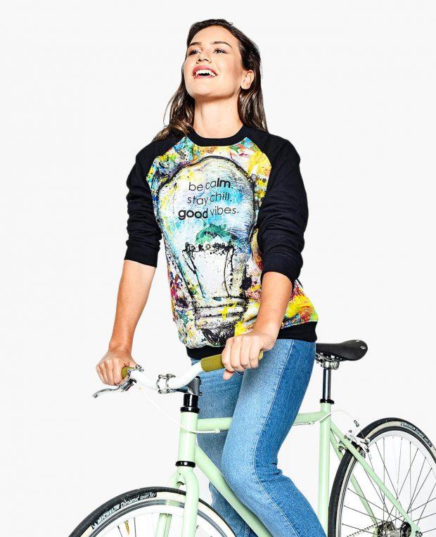 Women's Sweatshirt GOOD VIBES