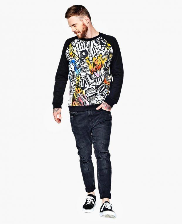 Men's Sweatshirt MUSIC ART