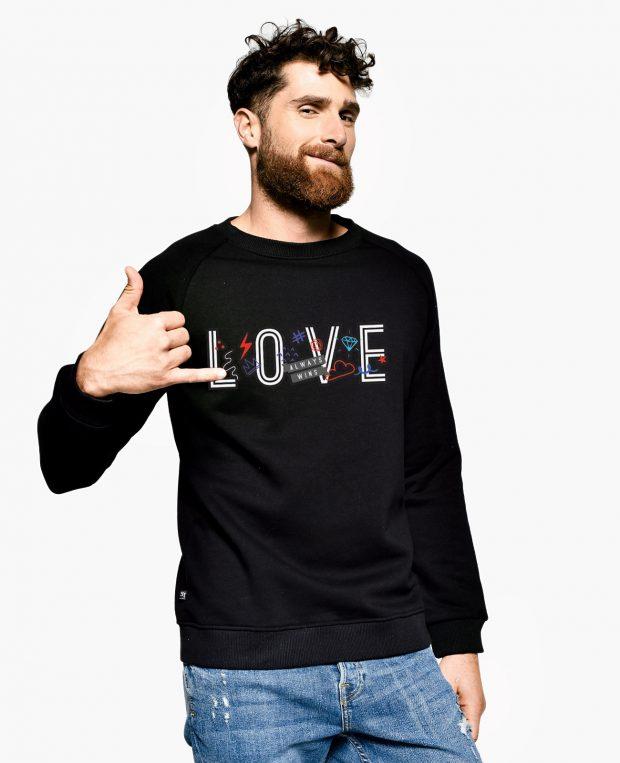Men's Sweatshirt LOVE WINS