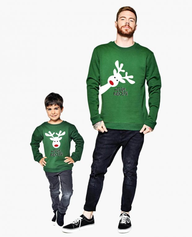 Men's Sweathsirt HAPPY RUDOLF