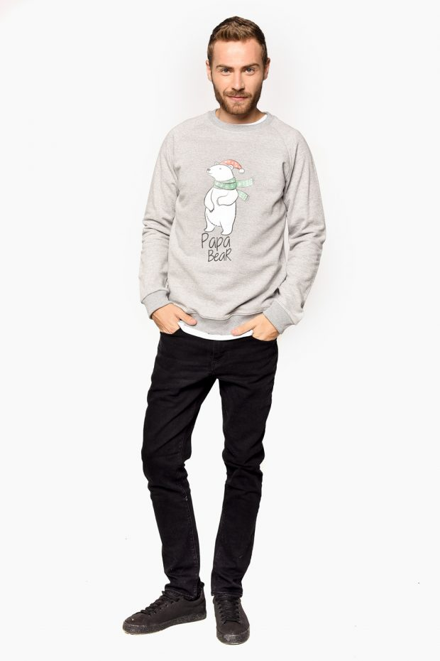 Men's Christmas Sweatshirt PAPA BEAR