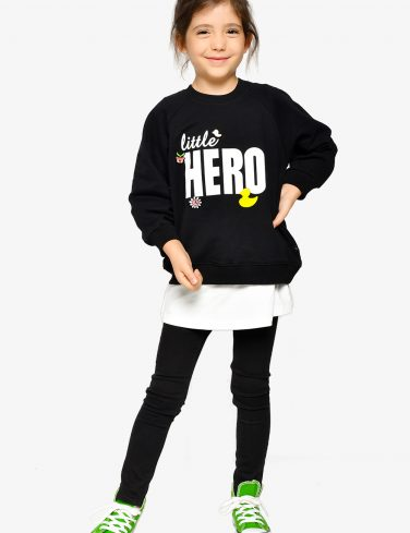Girl Sweatshirt LITTLE HERO