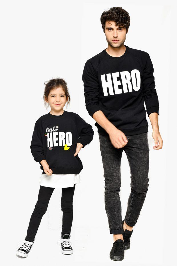 Girl Sweatshirt LITTLE HERO