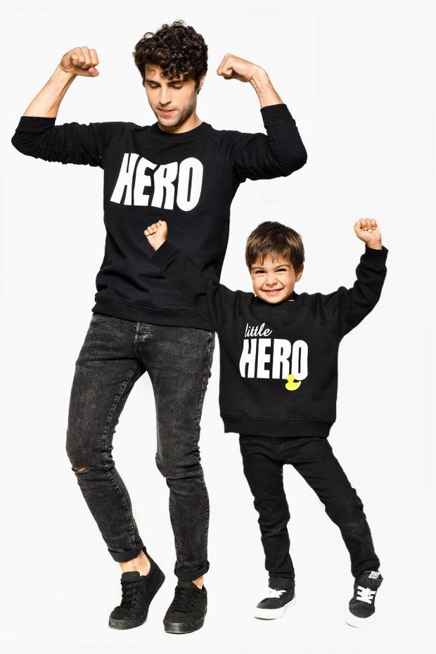 Boys Sweatshirt LITTLE HERO