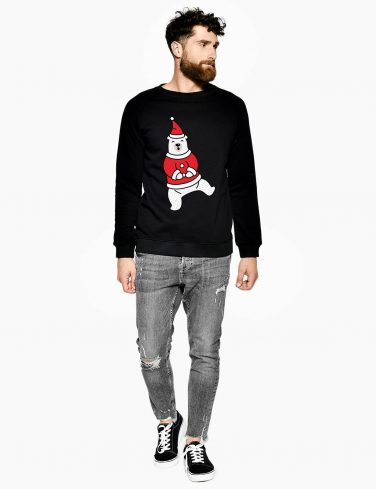 Men's Christmas Jumper DANCING BEAR