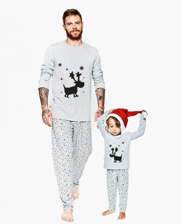 Men's Holiday Pajama Set FLAKE