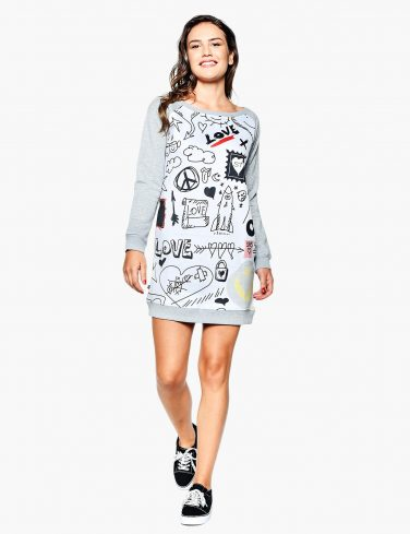 Women's Sweatshirt Dress DOODLE
