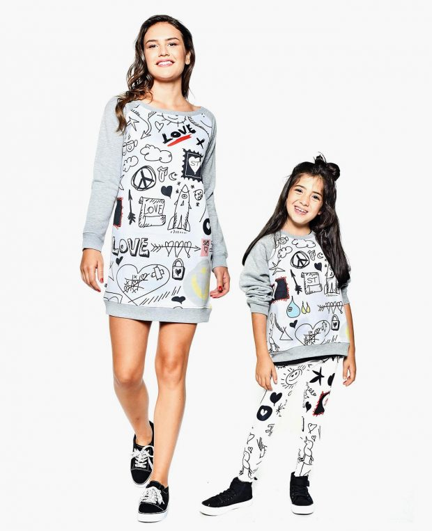 Women's Sweatshirt Dress DOODLE