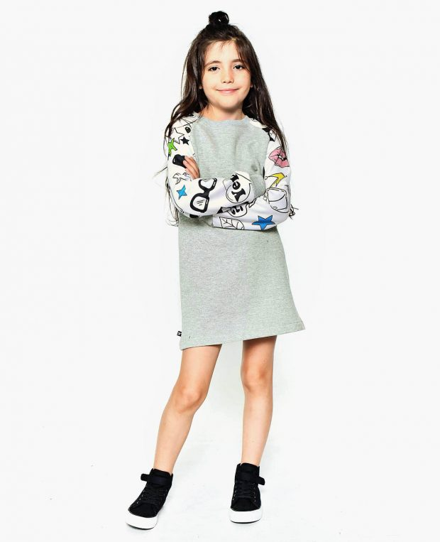 Girls Sweatshirt Dress TRENDY