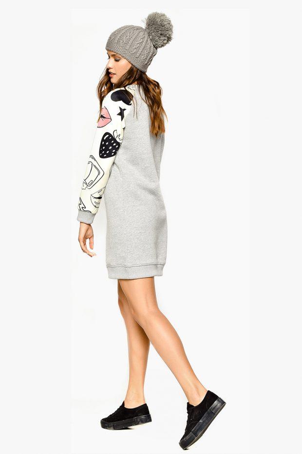 Women's Sweatshirt Dress TRENDY