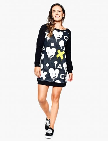 Women's Sweatshirt Dress GRAFFITI
