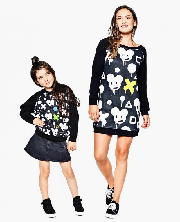 Women's Sweatshirt Dress GRAFFITI