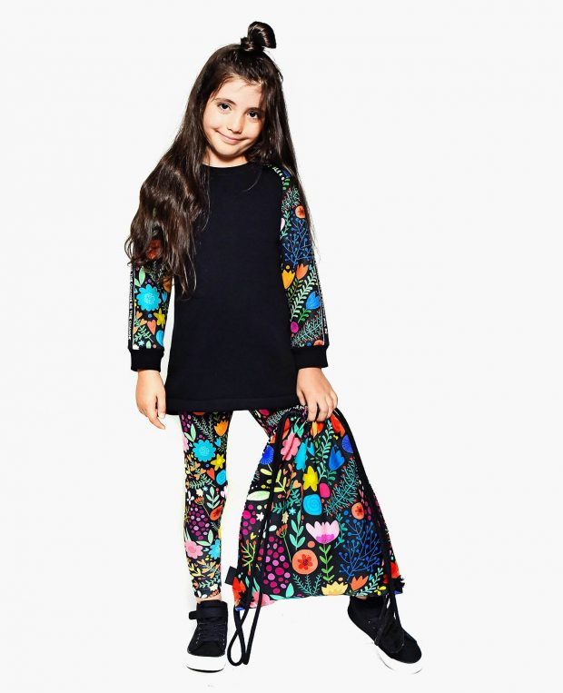 Girls Sweatshirt Dress BE THE CHANGE