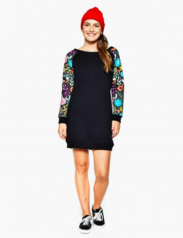 Women's Sweatshirt Dress BE THE CHANGE