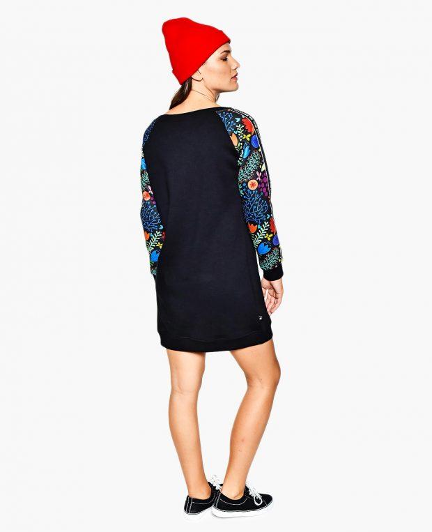 Women's Sweatshirt Dress BE THE CHANGE
