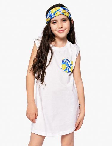 Girls Pocket Dress LEMONS