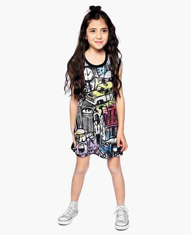Girls Printed Dress CITY COMICS