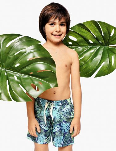 Boys Patterned Swim Shorts TROPICANA