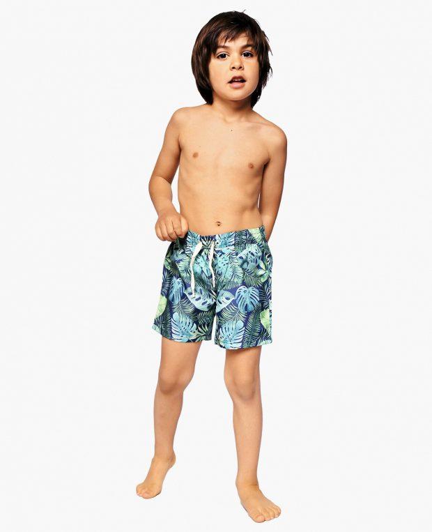Boys Patterned Swim Shorts TROPICANA