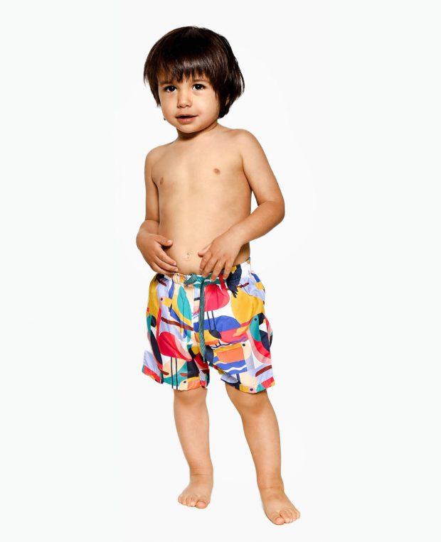 Boys Patterned Swim Shorts BAHAMAS