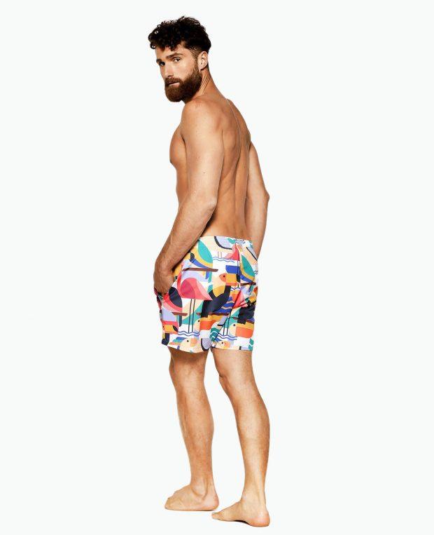 Men's Pattern Swim Shorts BAHAMAS