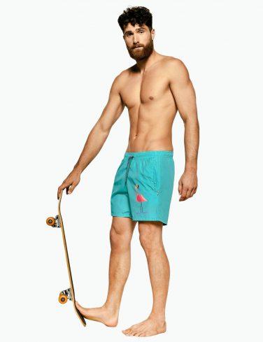 Men's Swimming Shorts FLAMINGO