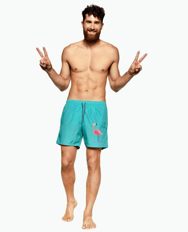 Men's Swimming Shorts FLAMINGO