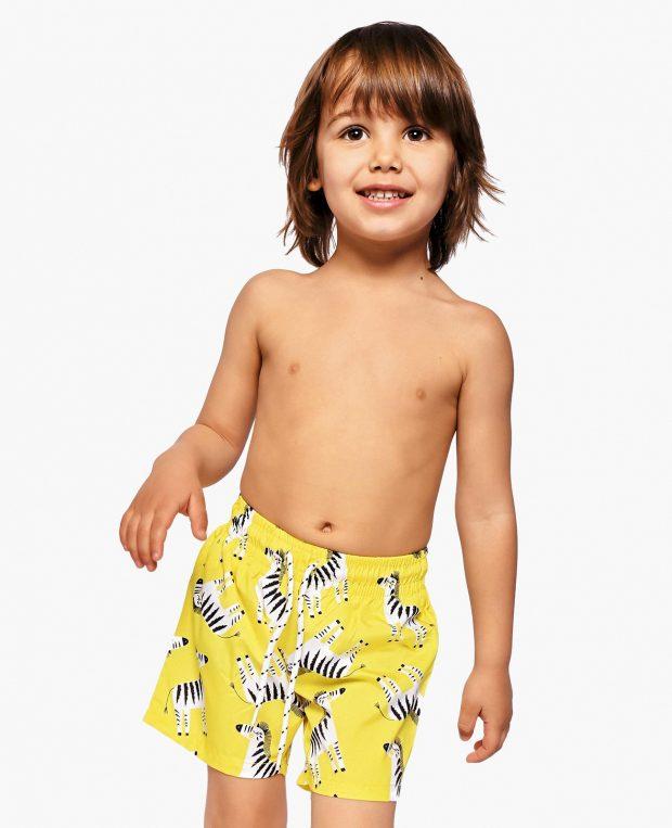 Boys Printed Swim Shorts ZEBRA