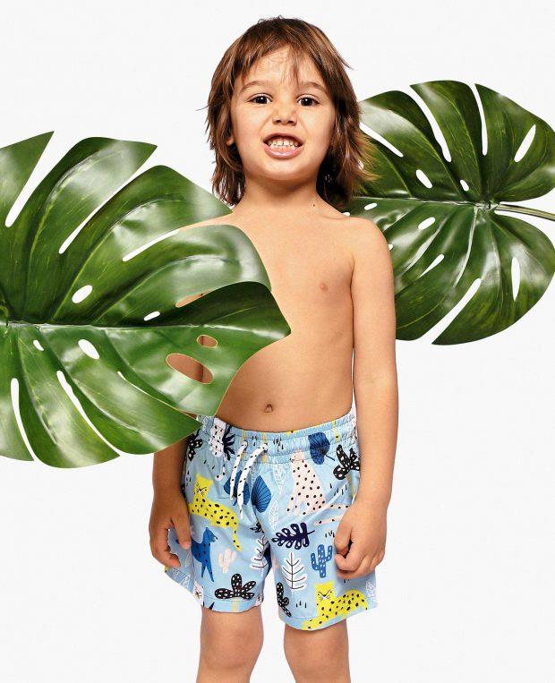 Boys Animal-Print Swim Shorts HAKUNA MATATA