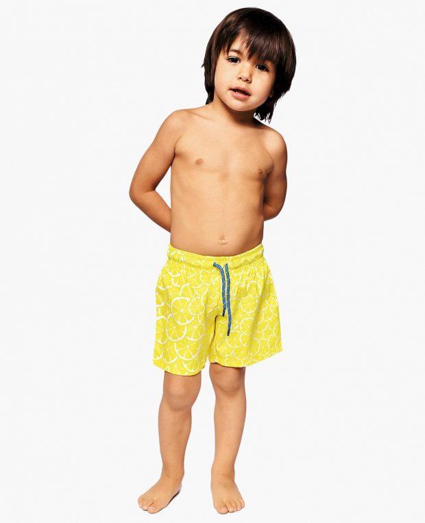 Boys Patterned Swim Shorts LEMONS