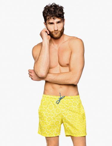 Men's Pattern Swim Shorts LEMONS