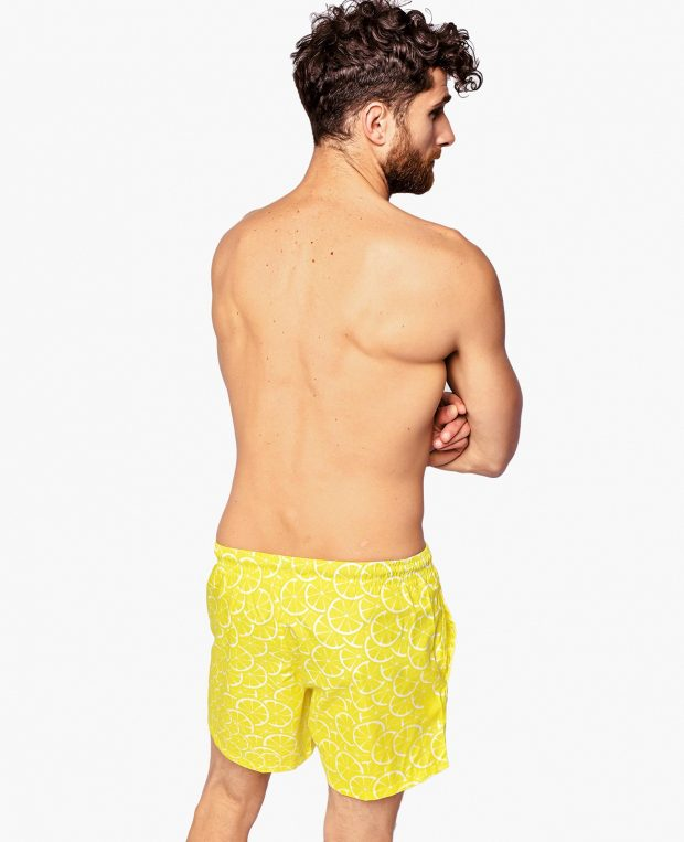Men's Pattern Swim Shorts LEMONS