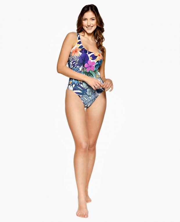 Women's Low Cut Swimsuit SAN TROPEZ