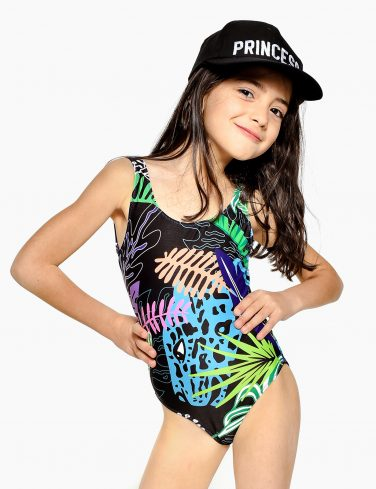 Girls Printed Swimsuit JUNGLE VIBE